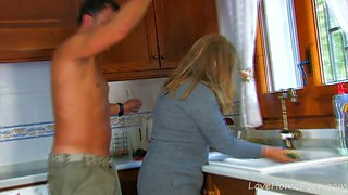 Hot Milf Gets Fucked Hard In The Kitchen