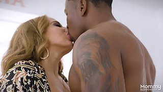 Giant black penis drills bottomless throat of sex-hungry milf Richelle Ryan