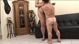 Mini man meets tall bbw