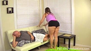 wrestling between mom and son ended with hot fuck