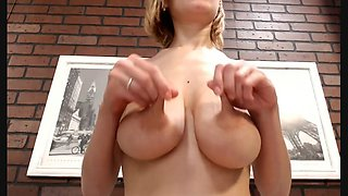Bound breast and nipple play