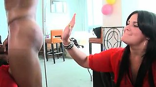 Hot babes from DancingBear go crazy part1