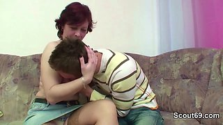 MILF Mother Seduce Step-Son to Fuck her when Dad away