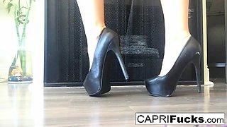 Capri in her high heels