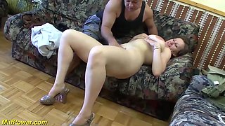 extreme big natural hairy milf enjoys her first rough big cock anal fuck lesson