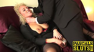 Mature horny blonde Rebecca wants to be punished