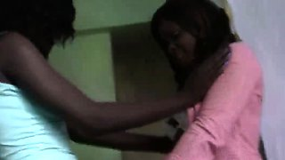 African Babes Veronica and Megan get down and dirty as they