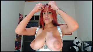 Spanish elf auto drips milk from her big torpedo tits