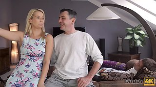 DADDY4K. Experienced guy penetrates his hot girlfriend while guy