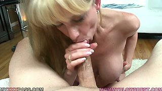 Horny and slutty blonde with nice body Olivia Parrish and cock