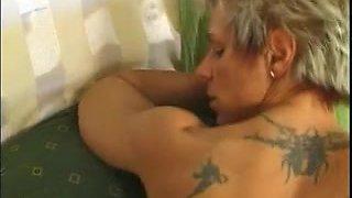 Sexy blonde german older screwed