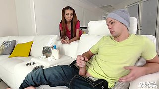 Kat Dior - Caught Her Step Brother Jerking Off