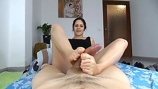 Auntie Giving You a Footjob
