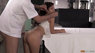 Horny chef at the hotel restaurant fucks a cheating slut