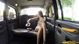 Horny and flexible American slut gets fucked in a taxi