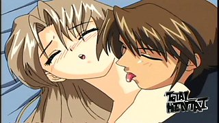 Cute hentai village beauty gets teased by aroused animated warrior