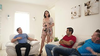 Unforgettable blowbang with hot friend's mommy Sovereign Syre