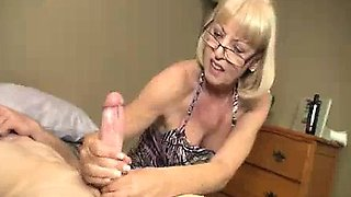 Granny Wants To See Young Big Cock Explode With Jizz