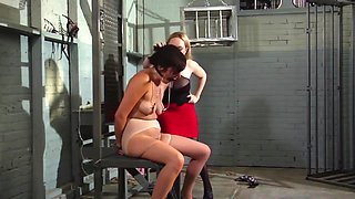 sex slave training pays off in strapon fucking