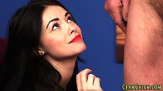 cfnm euro domina sucking blowjob