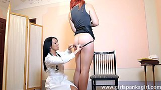 Redhead punished by nurse