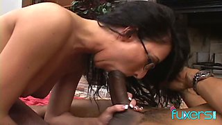This slut wants to fuck her neighbor and she really seems to want his dick