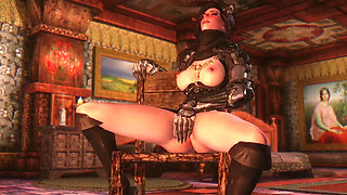 3D Queen of darkness summoned for herself a Horny to fuck her up Hentai
