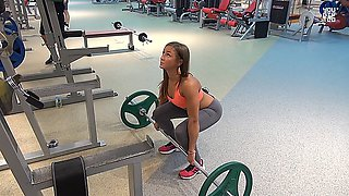 anastasia sokolova in the gym