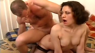 An Eastern European Amateur Takes on Two Hard Cocks at Once