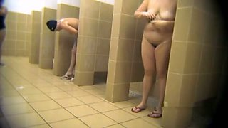 Check out lots of mature Russian nymphos in public shower on hidden cam