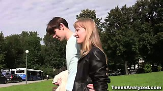 A romantic walk in a park with a handsome guy, a quick