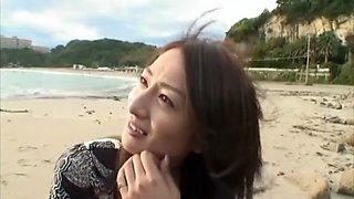 Incredible Japanese chick in Horny POV, Beach JAV clip
