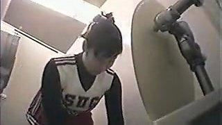 Cheerleader in Toilet